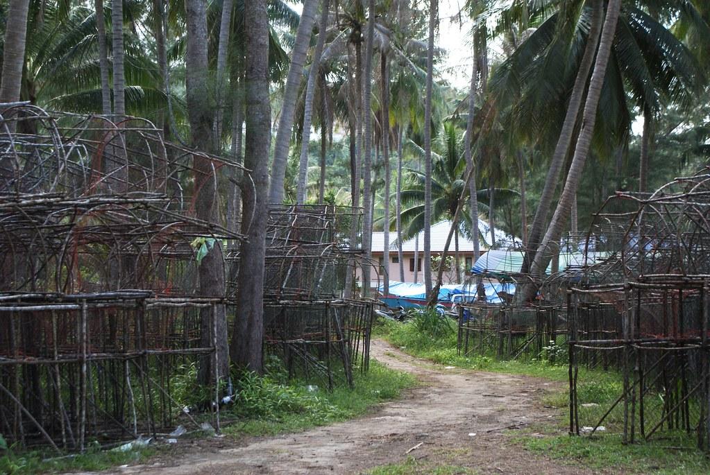 Village de pêcheurs au nord ouest de Koh Phangan en Thailande.