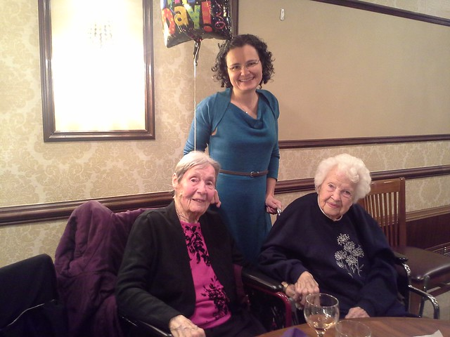 Iris, me and Doris Rigg