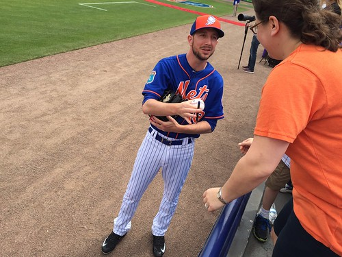 Jerry Blevins signing my ball | by Julie Rubes