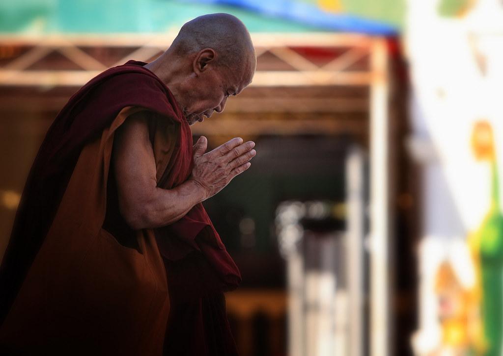 In Prayer At The Shwedagon, Burma