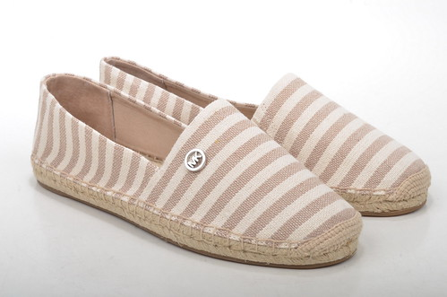 Beige Canvas Slip On Shoes