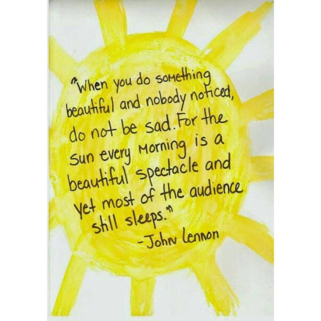 Good Morning Quotes Johnlennon Morning Sunshine Flickr
