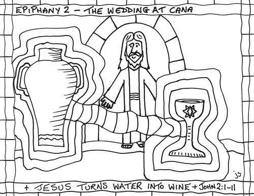 Jesus turns water to wine coloring pages ~ Epiph2 | Jesus turns water into wine | John | Flickr
