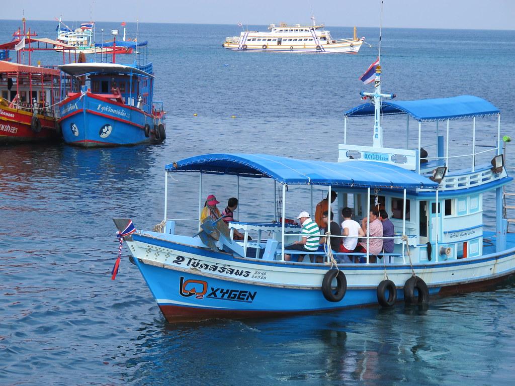Bateau pour venir sur l'île de Koh Phangan en Thailande.