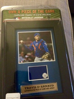 Piece of d'Arnaud game-used jersey | by Julie Rubes