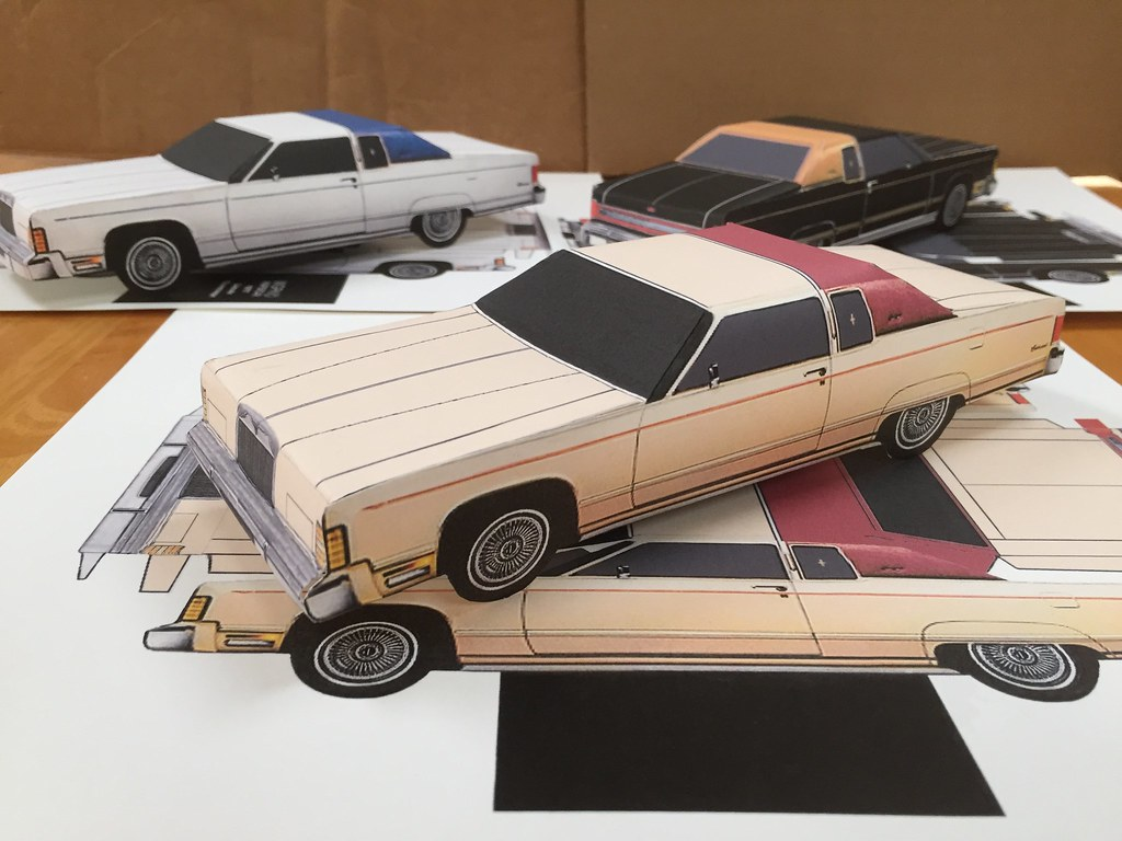 For Sale On Ebay Template 1977 Lincoln Paper Craft Car