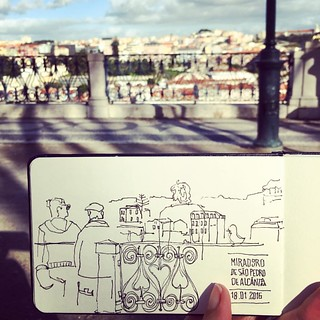 Earlier today, #asketchaday in #Lisboa | by Ana Isabel Ramos