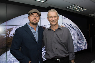 Leonardo DiCaprio visited Goddard Saturday to discuss Earth science with Piers Sellers | by NASA Goddard Photo and Video
