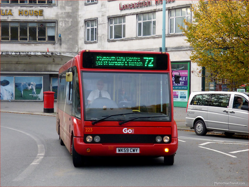 Plymouth Citybus 223 WK59CWY