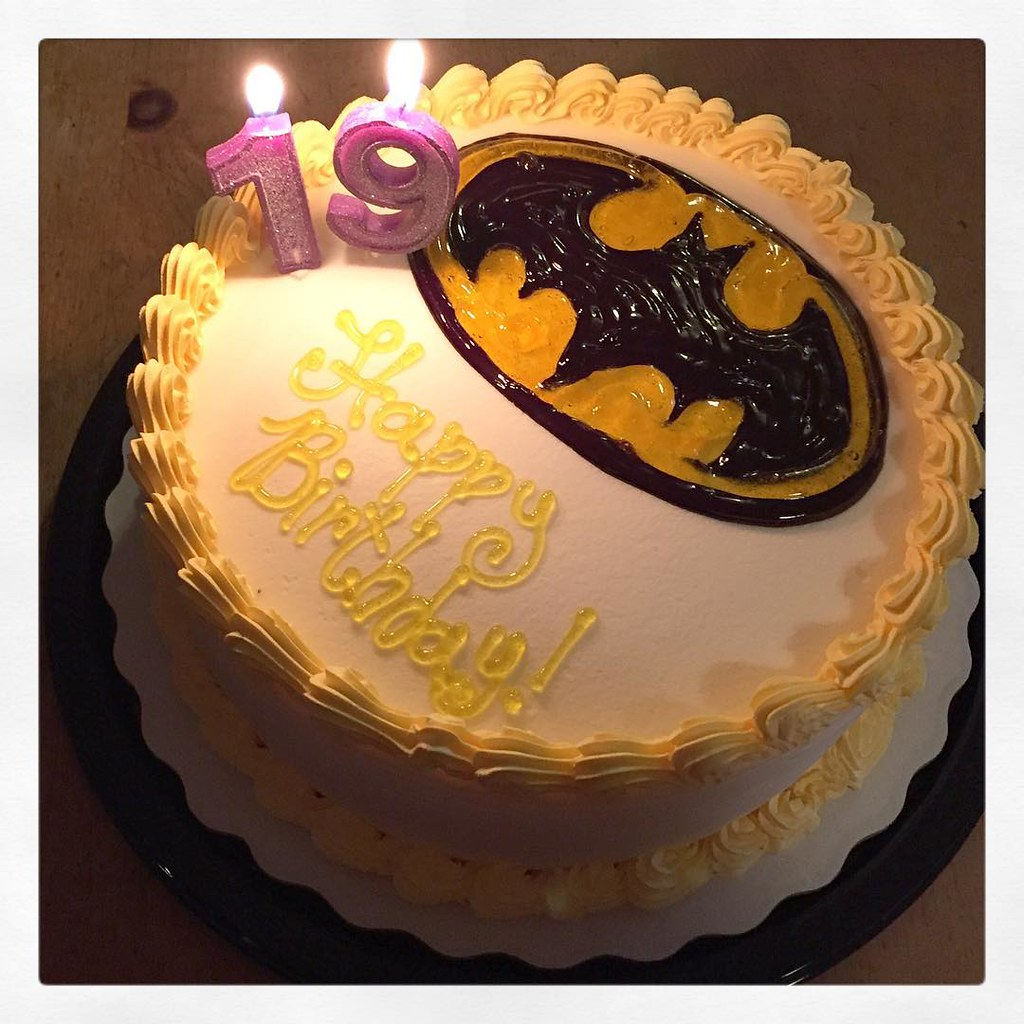 Kendomik My Daughters Awesome Batman Ice Cream Birthday Cake From Dairy Queen Newmarket