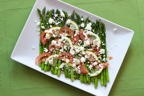Asparagus with Lemon, Tomato, Queso Fresco - Finished Dish 2 | by Chris Mower