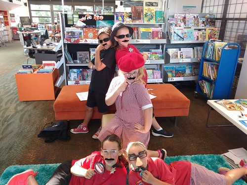 Girls in moustaches | Photos from School Librarian Day at ...