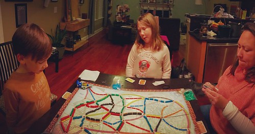 Playing our first time at Ticket to Ride for our NYE fun.