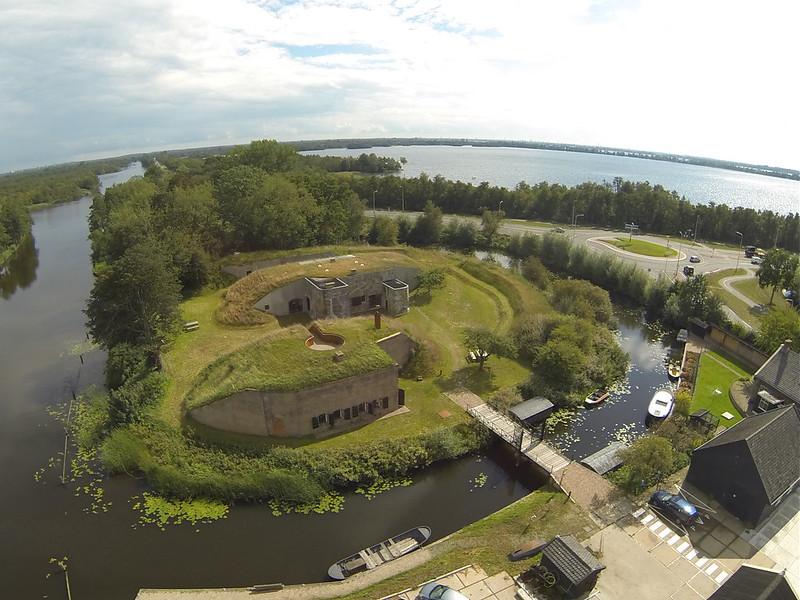 Fort Kijkuit in Kortenhoef, Noord-Holland, THE NETHERLANDS