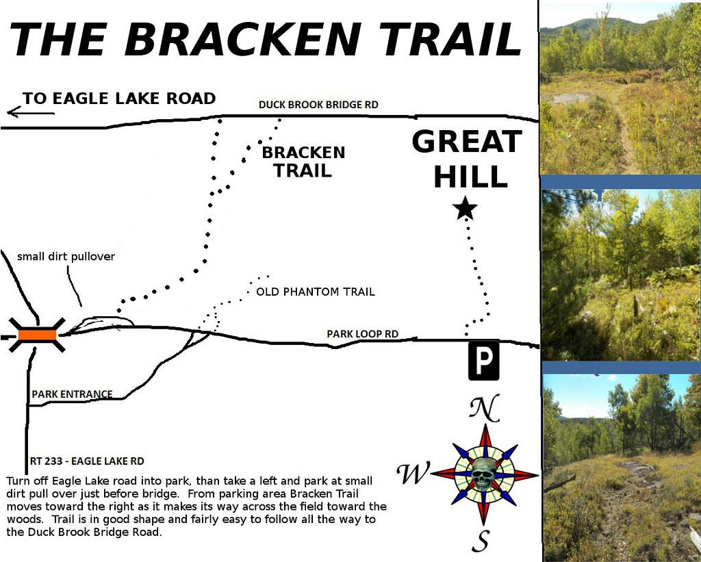 ABANDONED BRACKEN TRAIL MAP - ACADIA NATIONAL PARK | Flickr