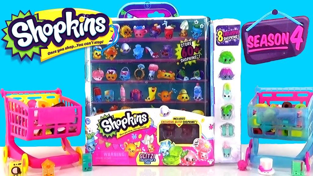 Shopkins SEASON 4 Glitzi Collectors Case With Glitter And Petkins