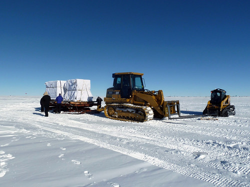 Ice cores ready for transport back to South Pole Station | by U.S. Ice Drilling