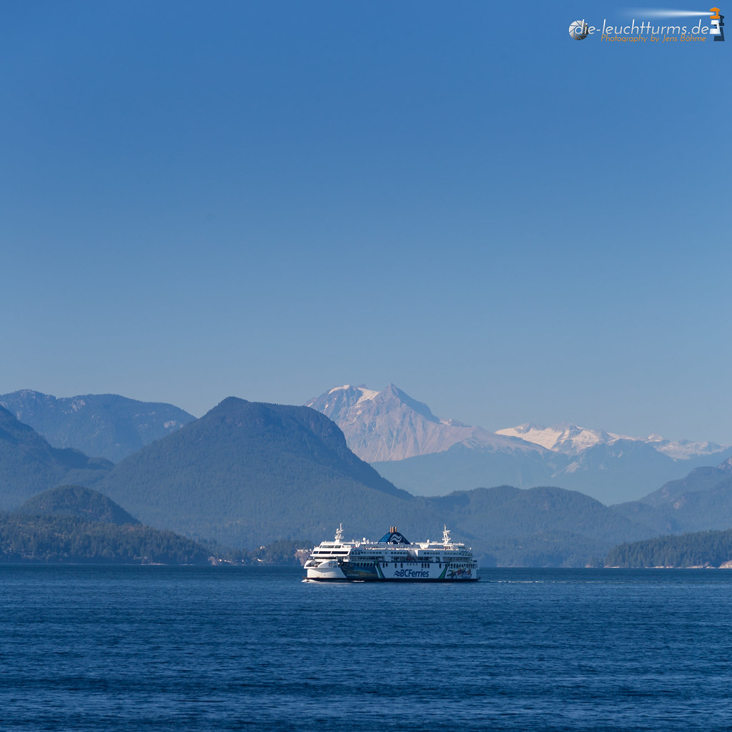 British Ferry in front of Coastal Range