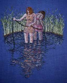 "A lingering trace - 8 X 10"" on linen #embroidery #embroideryart #broderie #bordado 