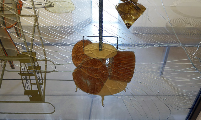 Duchamp, The Large Glass, detail with Chocolate Grinder