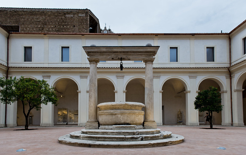 The Diocletian Baths: charterhouse and open-air pool, Rome, ITALY