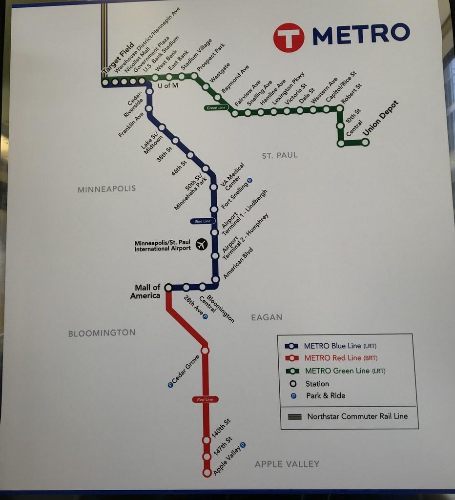 MinneapolisSt Paul Metro rail system map Apr16 A rail s Flickr