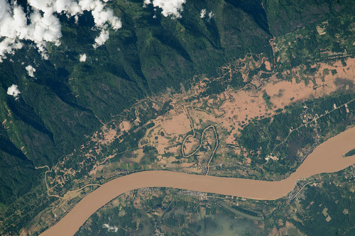 Flooding on the Mekong River floodplain, Thailand and Laos | by NASA Johnson