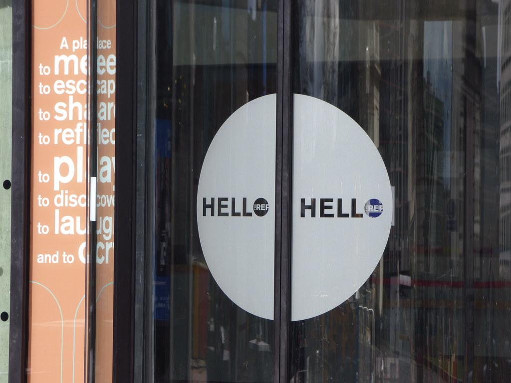 ... Welcome to The REP - new revolving doors - Hello Hello | by ell brown & Welcome to The REP - new revolving doors - Hello Hello | Flickr