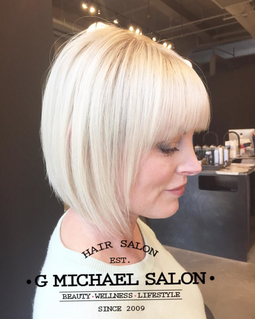 Designer Bob Haircuts And Beautiful Blonde Hair Color By G Flickr