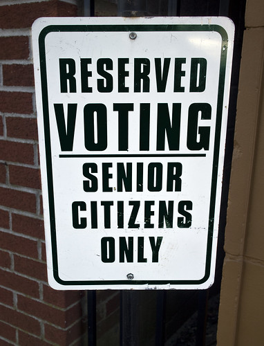 Reserved voting senior citizens only | by watts_photos