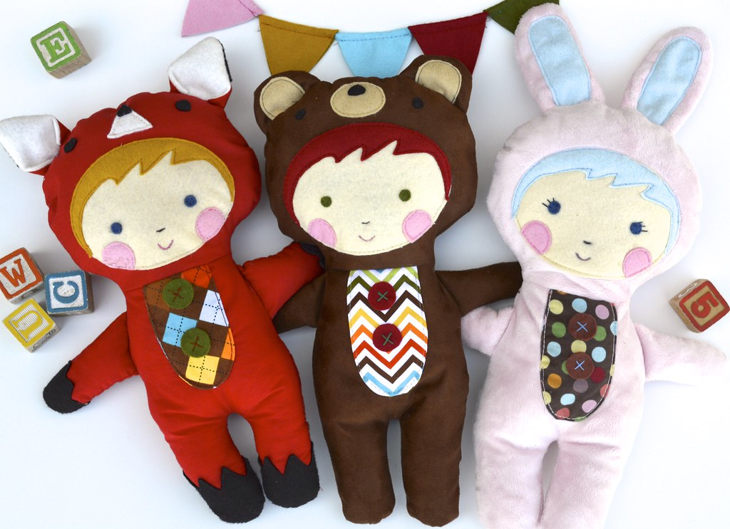 Animal Friends Plushie Sewing Pattern Sew Up Cute Little D Flickr