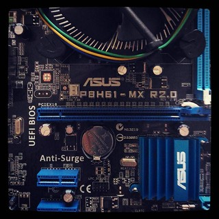 Upgrade :) Beggars can't be choosers. #ASUS #P8H61-MX will be in charge of my home #PC from now on. For #365days project, 30/365.