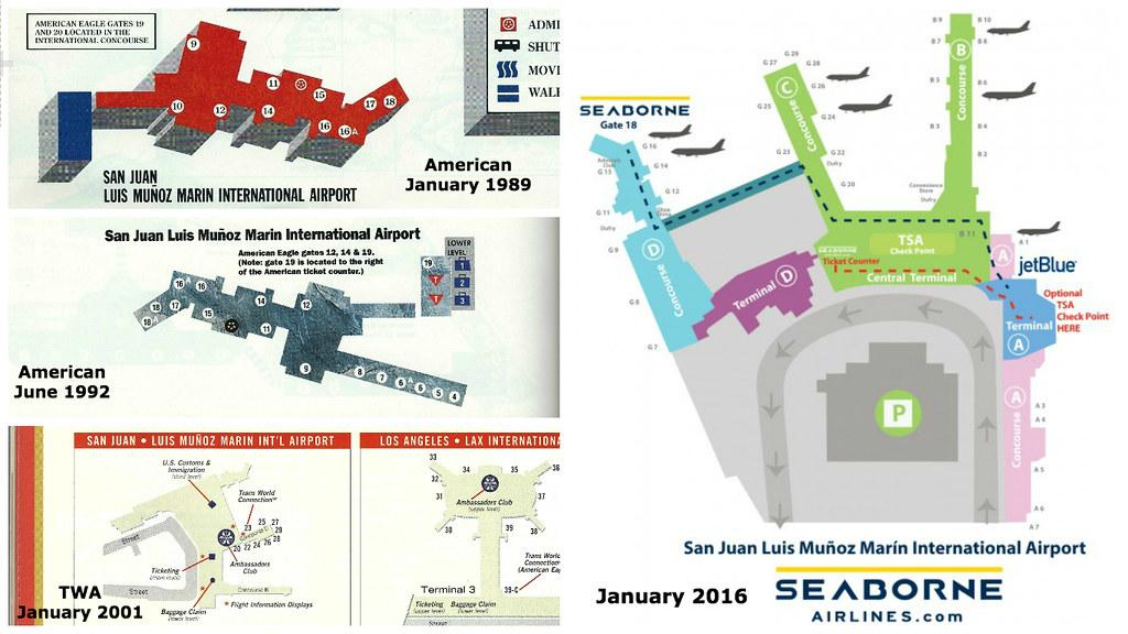 San Juan Airport Diagrams 1989 2016 Four Hub Maps Of San Flickr