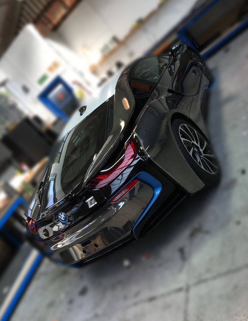Bmw I8 Black Chrome Wrap Creative Fx London 3 Creative Fx Www Fxuk