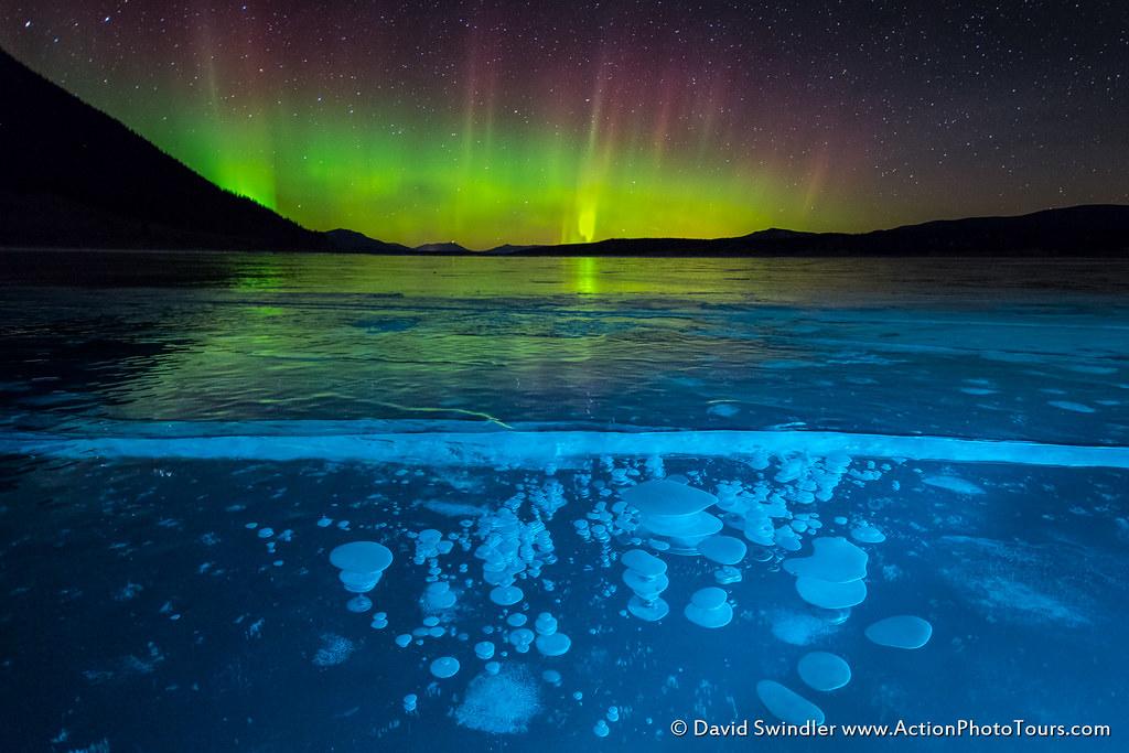 Image result for Abraham Lake Aurora by David Swindler