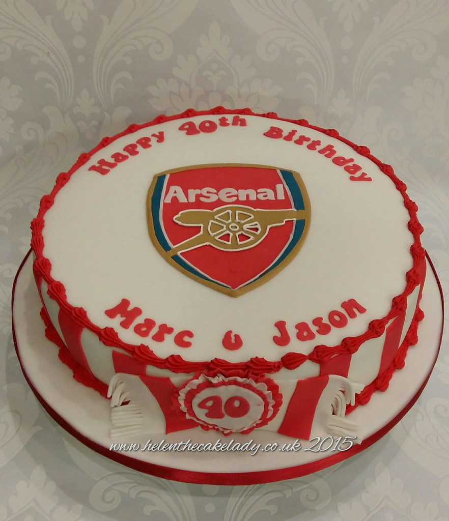 Arsenal football themed birthday cake Helen Flickr