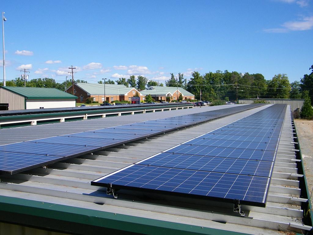 ... Solar Panels Atop The Storage Units Outside Eu0026S Mart In Altavista | By  USDAgov