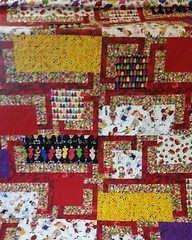 Very successful day of quilting,  4 done!  BQ4 made from mom's Loralie fabric stash.