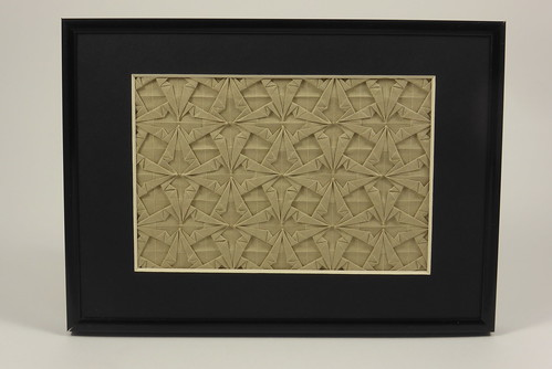 Double Spearhead Tessellation (framed) | by Michał Kosmulski