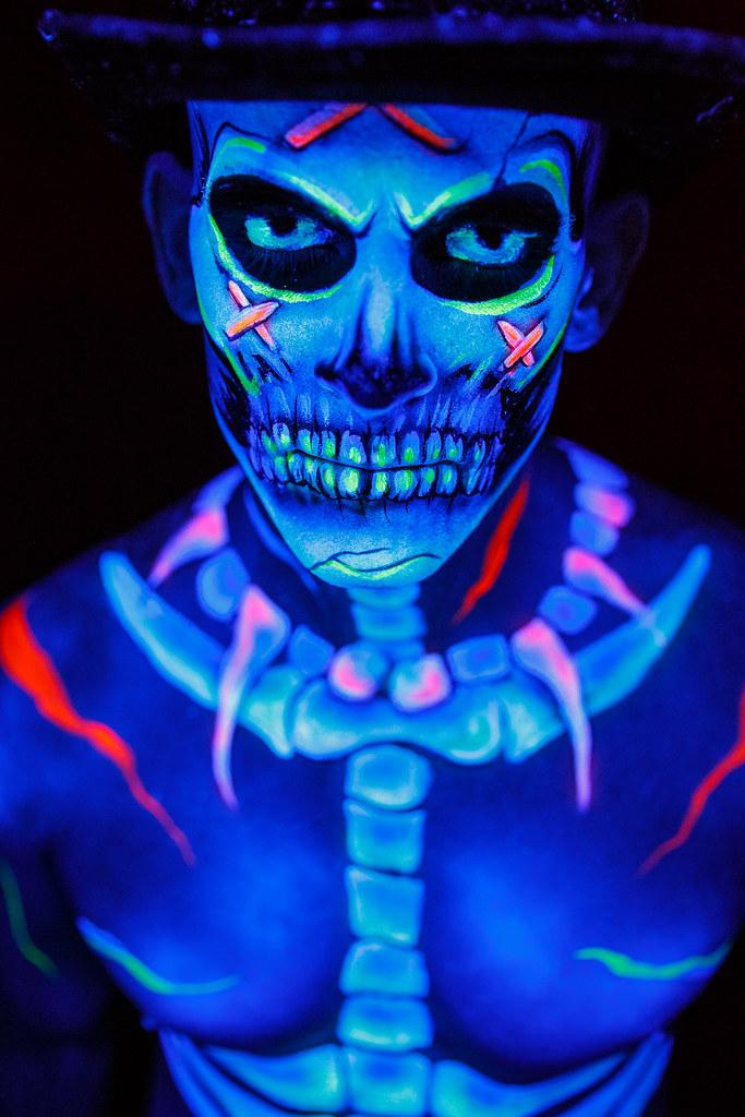 Black Light Body Paint Skeleton