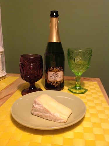 Blanc de Blanc's Sparkling Wine and St. Andre Cheese 1