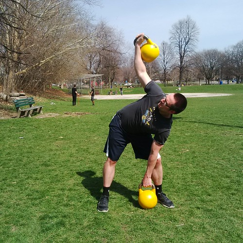 Exercise Kettlebell Overhead Windmill Modified: Kettlebell Windmill Exercise