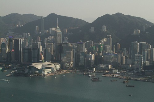 Wan Chai, Hong Kong Island viewed from the International Commerce Centre