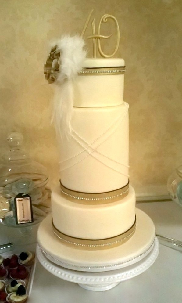 Great Gatsby 40th Birthday Cake | pastryqueen62 | Flickr