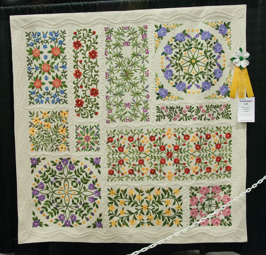 Blowin' in the Wind of May by Toyoko Nakajima   AQS Quilt We…   Flickr : accomplish quilting - Adamdwight.com