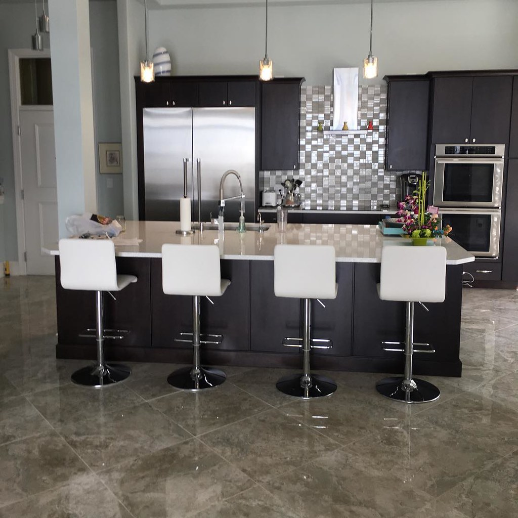 Florida Final Photos Of The 24x24 Tarsus Grey Polished Porcelain Tile On South Tampa
