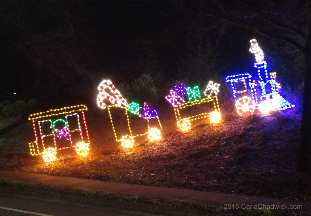 toy train christmas lights by carla chadwick