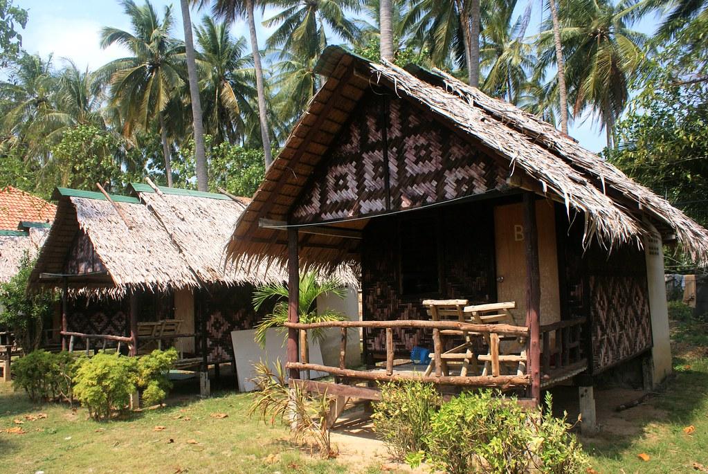 Autre exemple de bungalows à Koh Lanta.