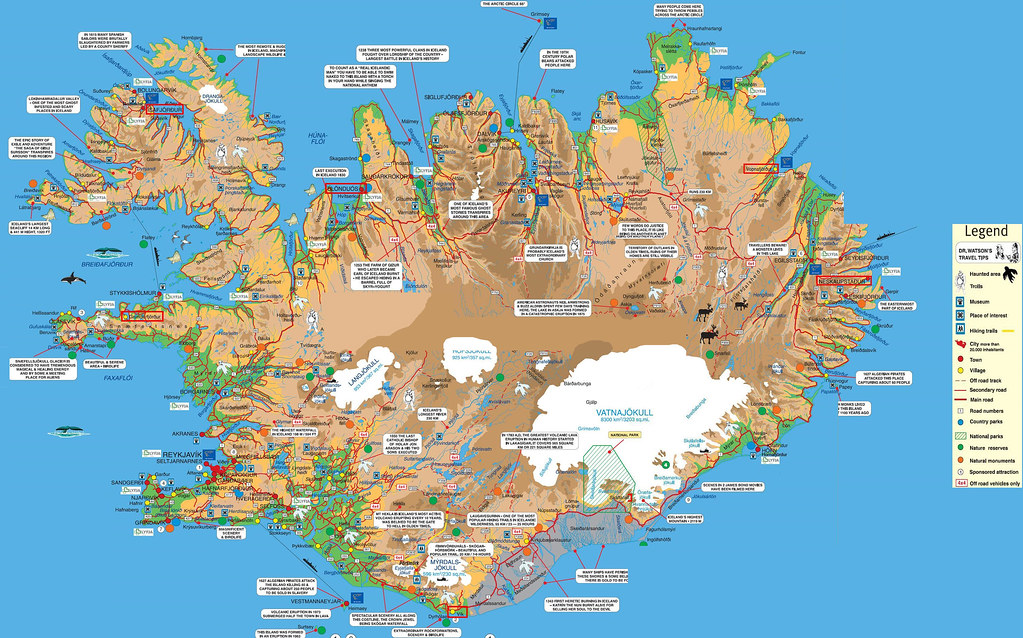 Iceland Road Map in English | Iceland Map | Christopher Seufert ...
