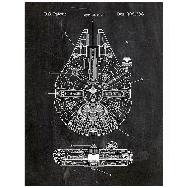 Very cool chalkboardpatent artblueprints designed starw flickr falcon at very cool chalkboardpatent artblueprints designed starwars posters falcon at malvernweather Gallery